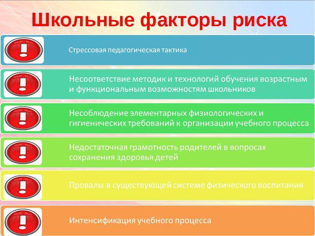 Школьные факторы риска