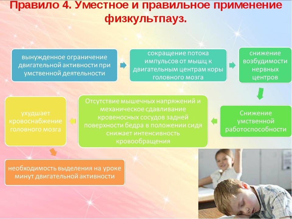 Правило 4. Уместное и правильное применение физкультпауз.