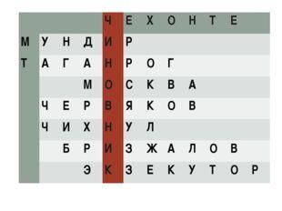 ЧЕХОНТЕ МУНДИР ТАГАНРОГ
