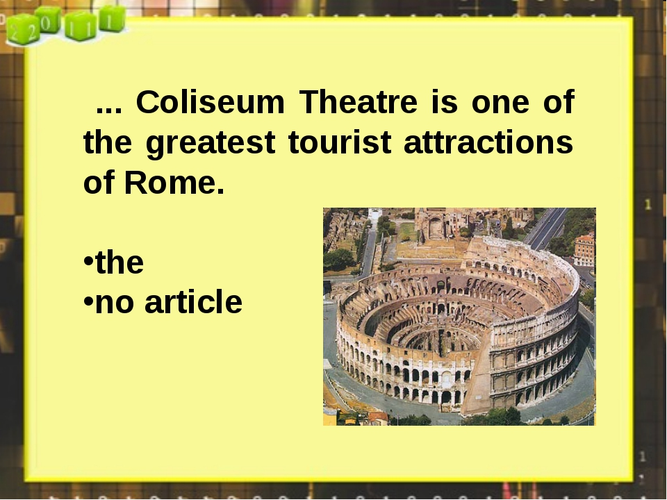 ... Coliseum Theatre is one of the greatest tourist attractions of Rome. the...