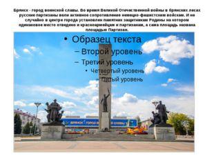 Брянск - город воинской славы. Во время Великой Отечественной войны в брянски