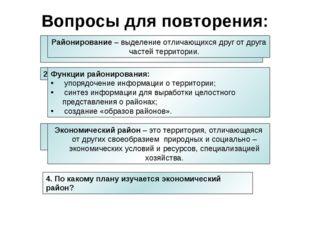 4. По какому плану изучается экономический район? Что такое районирование? Во