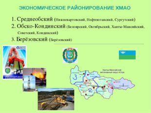 ЭКОНОМИЧЕСКОЕ РАЙОНИРОВАНИЕ ХМАО Среднеобский (Нижневартовский, Нефтеюгансикй
