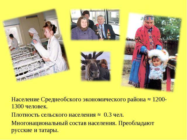 Население Среднеобского экономического района ≈ 1200-1300 человек. Плотность...