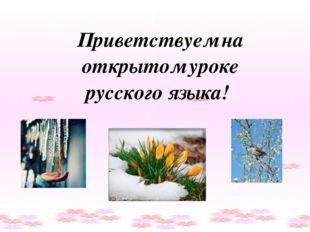 Приветствуем на открытом уроке русского языка!