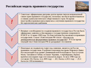Российская модель правового государства