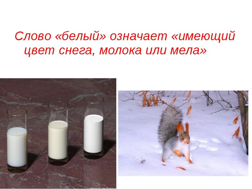 Слово «белый» означает «имеющий цвет снега, молока или мела» Grey Wolf - null