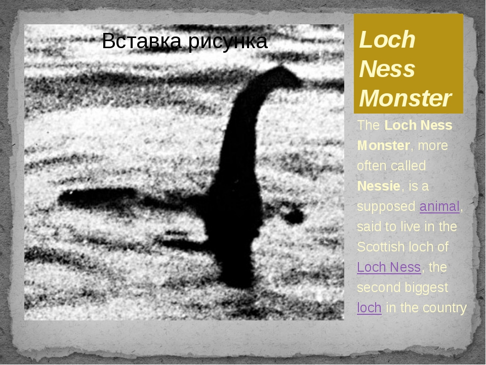 Loch Ness Monster The Loch Ness Monster, more often called Nessie, is a suppo...