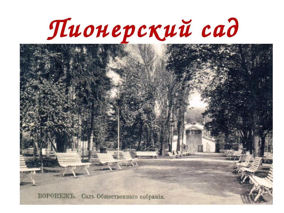 Пионерский сад