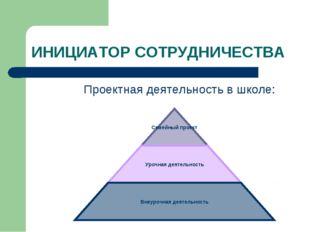 ИНИЦИАТОР СОТРУДНИЧЕСТВА Проектная деятельность в школе: