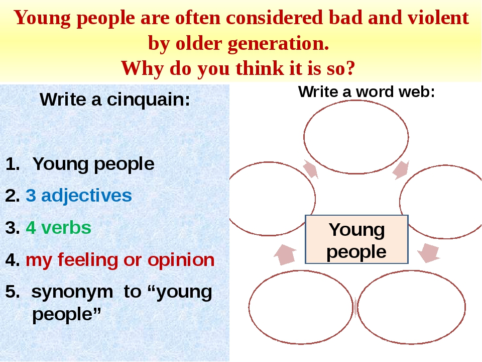 Young people are often considered bad and violent by older generation. Why do...