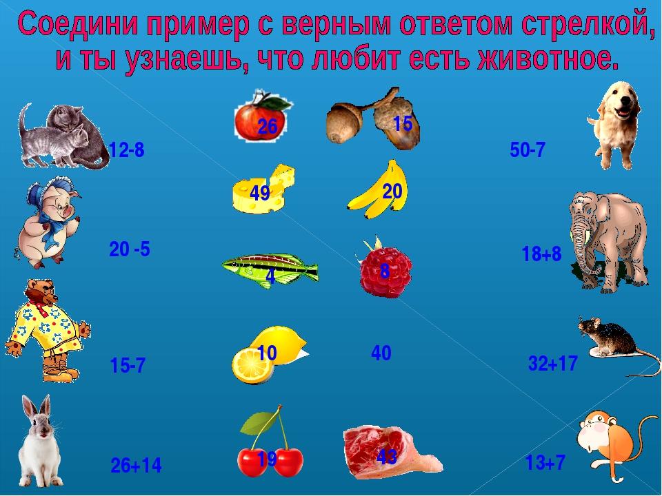 26 15 20 49 40 10 4 8 43 19 12-8 18+8 15-7 26+14 13+7 32+17 50-7 20 -5