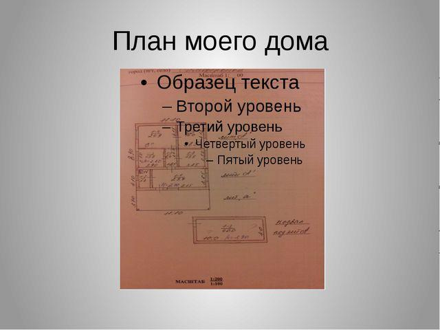 План моего дома