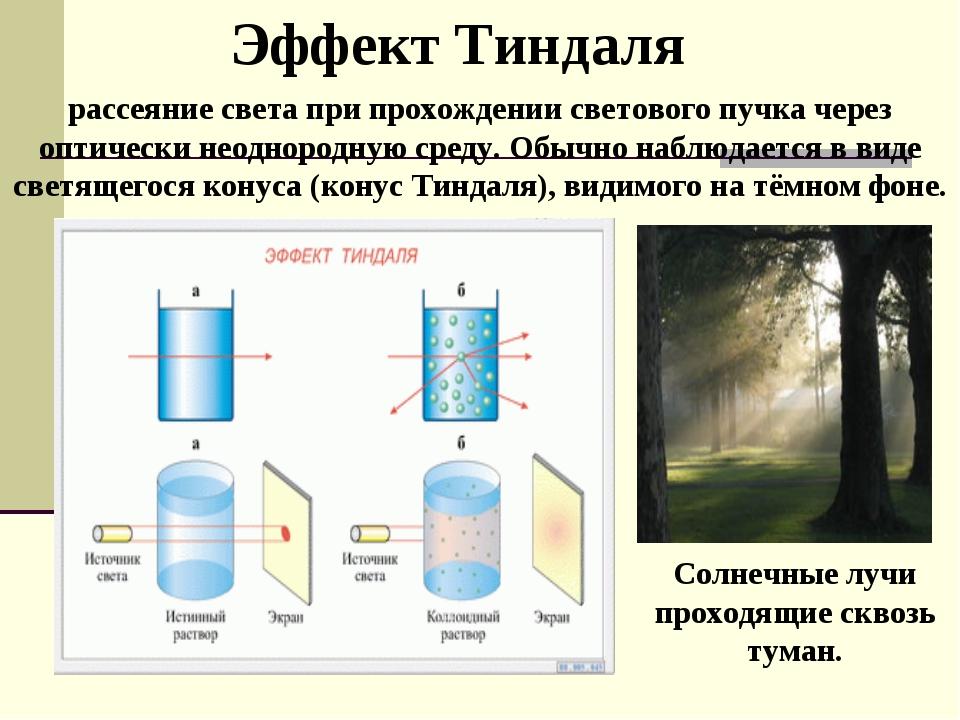 рассеяние света при прохождении светового пучка через оптически неоднородную...