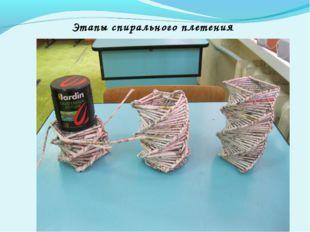 Этапы спирального плетения