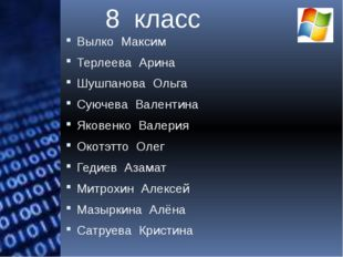 Вылко Максим Терлеева Арина Шушпанова Ольга Суючева Валентина Яковенко Валери