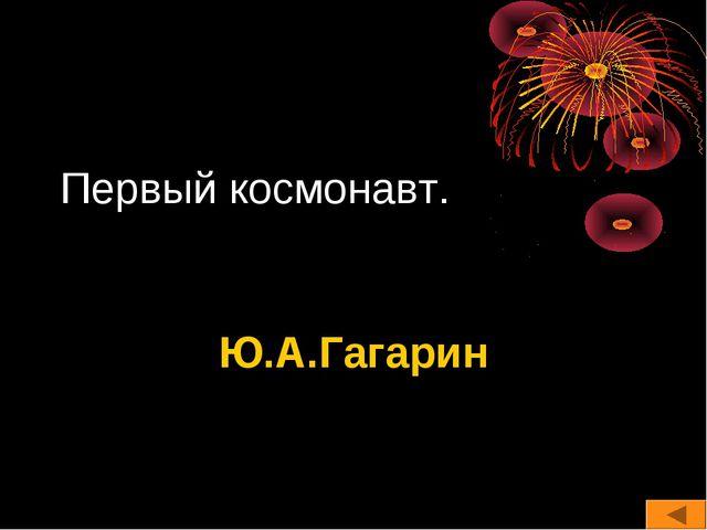 Первый космонавт. Ю.А.Гагарин