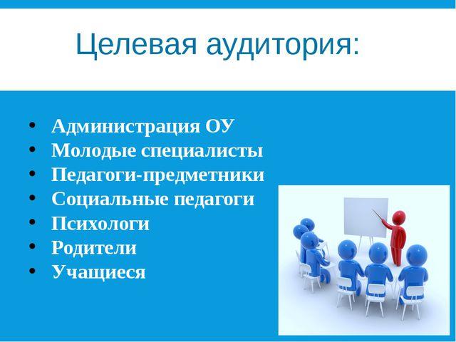 Целевая аудитория: Администрация ОУ Молодые специалисты Педагоги-предметники...