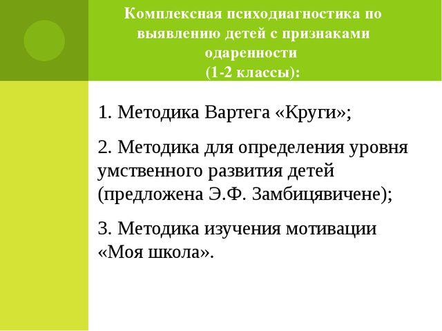 Комплексная психодиагностика по выявлению детей с признаками одаренности (1-2...
