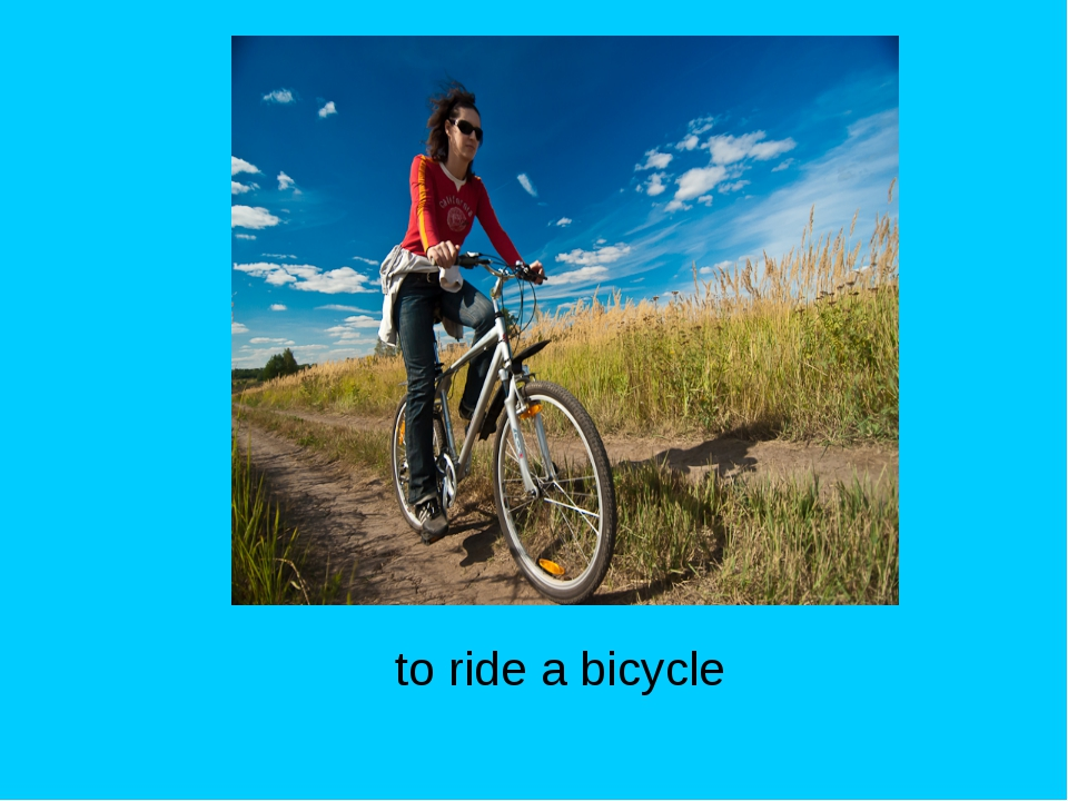 to ride a bicycle Activities