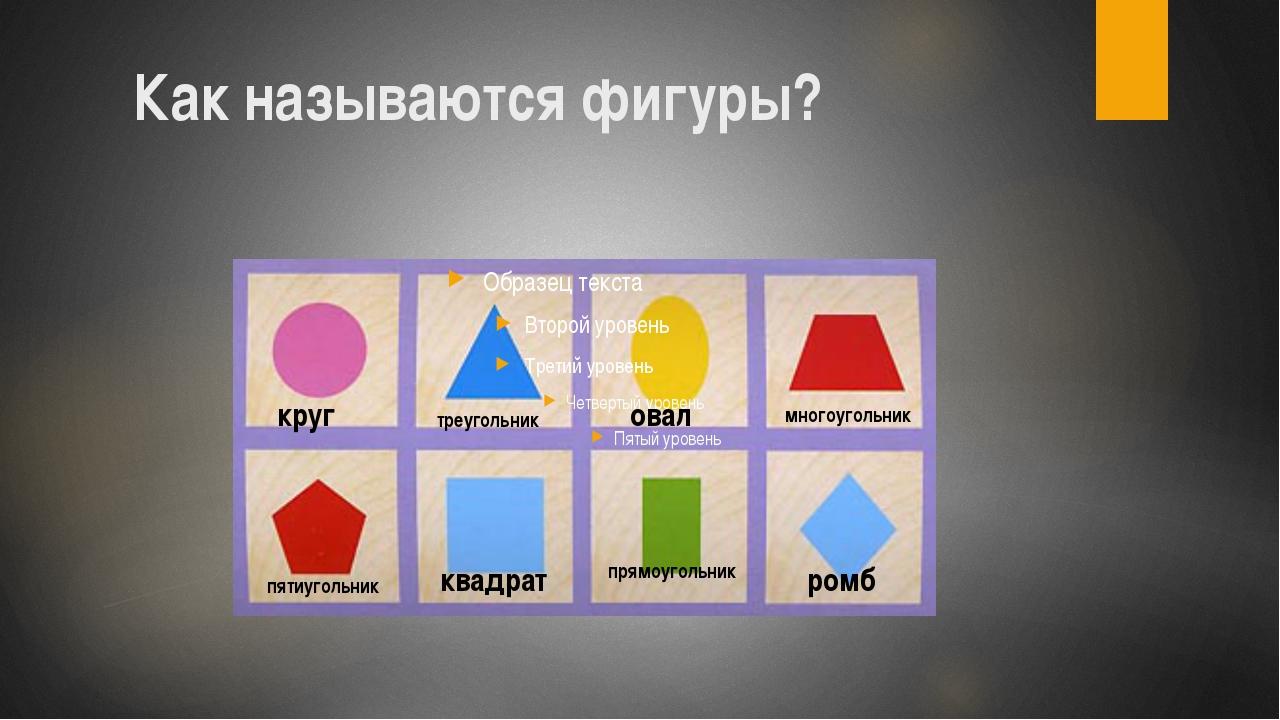 Как называются фигуры? круг треугольник овал многоугольник пятиугольник квадр...