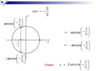 cos t = ------------------------------- t = Ответ: t = t =