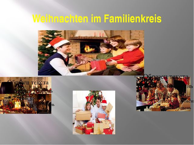 Weihnachten im Familienkreis