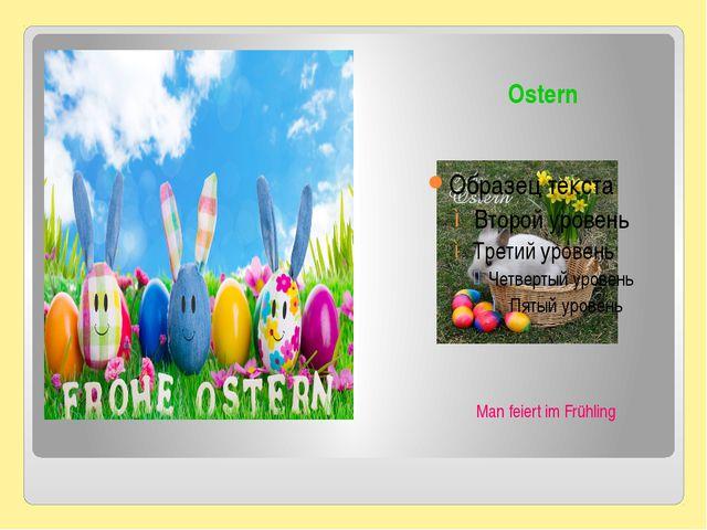 Ostern Man feiert im Frühling