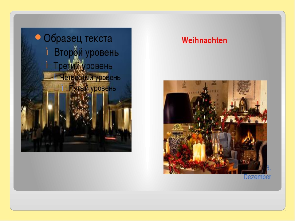 Weihnachten Man feiert diesen Tag am 25.-26. Dezember