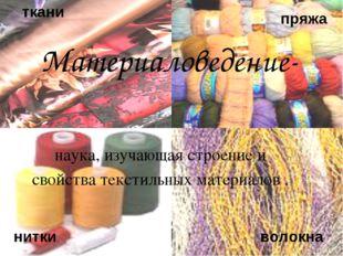 к ткани пряжа нитки волокна наука, изучающая строение и свойства текстильных