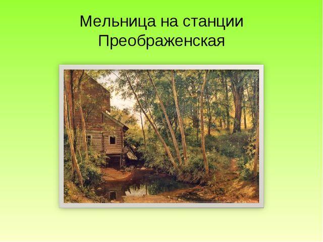 Мельница на станции Преображенская