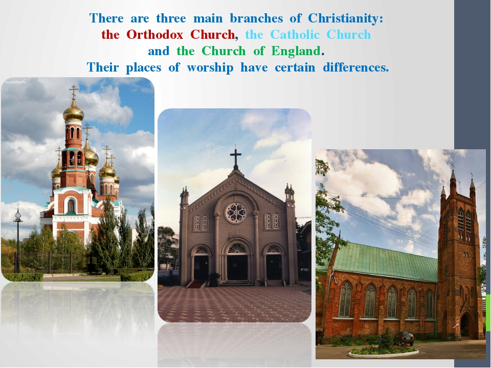 There are three main branches of Christianity: the Orthodox Church, the Cath...