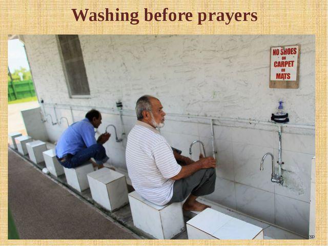 Washing before prayers