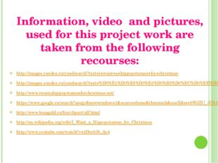 Information, video and pictures, used for this project work are taken from th