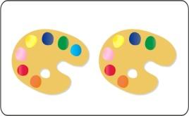 На какой палитре семь красок?