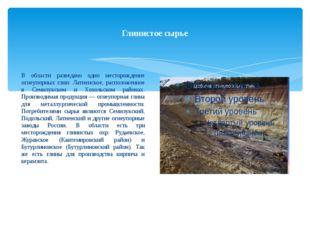 Глинистое сырье В области разведано одно месторождение огнеупорных глин: Латн