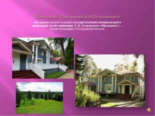 Щелыково (полное название государственный мемориальный и природный музей-запо
