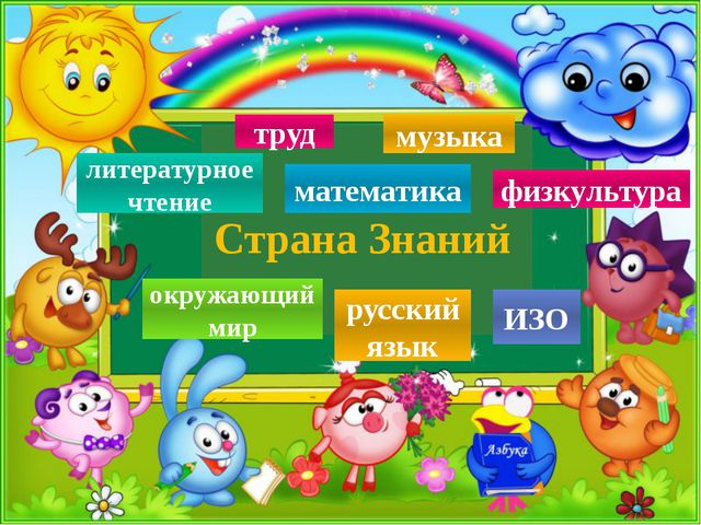 Страна Знаний русский язык математика литературное чтение ИЗО физкультура ок...