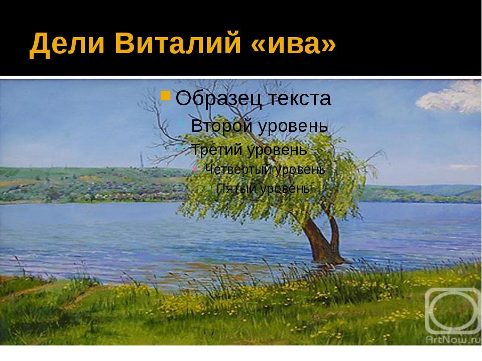 Дели Виталий «ива»