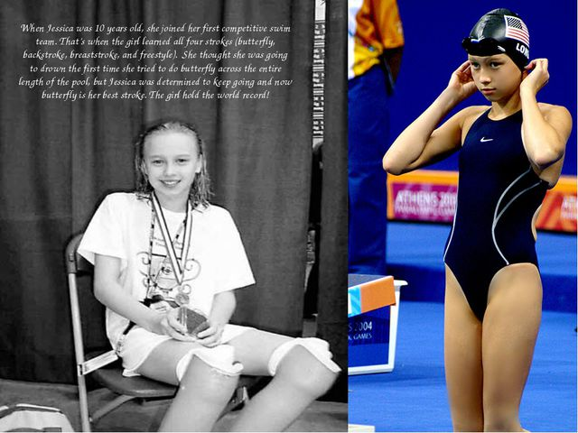 When Jessica was 10 years old, she joined her first competitive swim team. T...