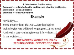 1. Introduction. Problem setting Sentence 1—tells who has the problem and w