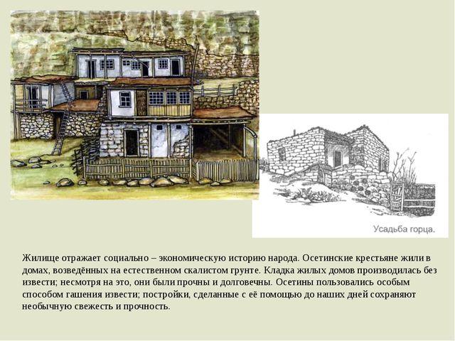 Жилище отражает социально – экономическую историю народа. Осетинские крестьян...