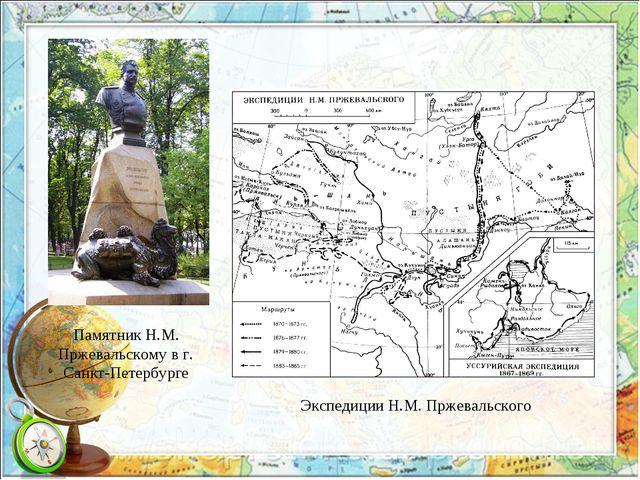 Памятник Н.М. Пржевальскому в г. Санкт-Петербурге Экспедиции Н.М. Пржевальского