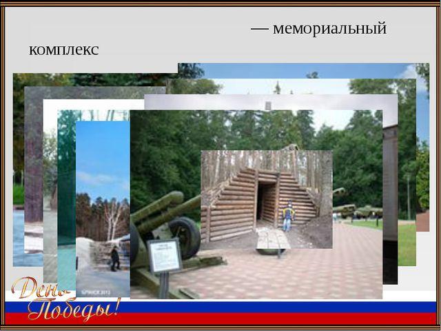 . «Партиза́нская поля́на»— мемориальный комплекс