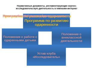 Нормативные документы, регламентирующие научно-исследовательскую деятельность
