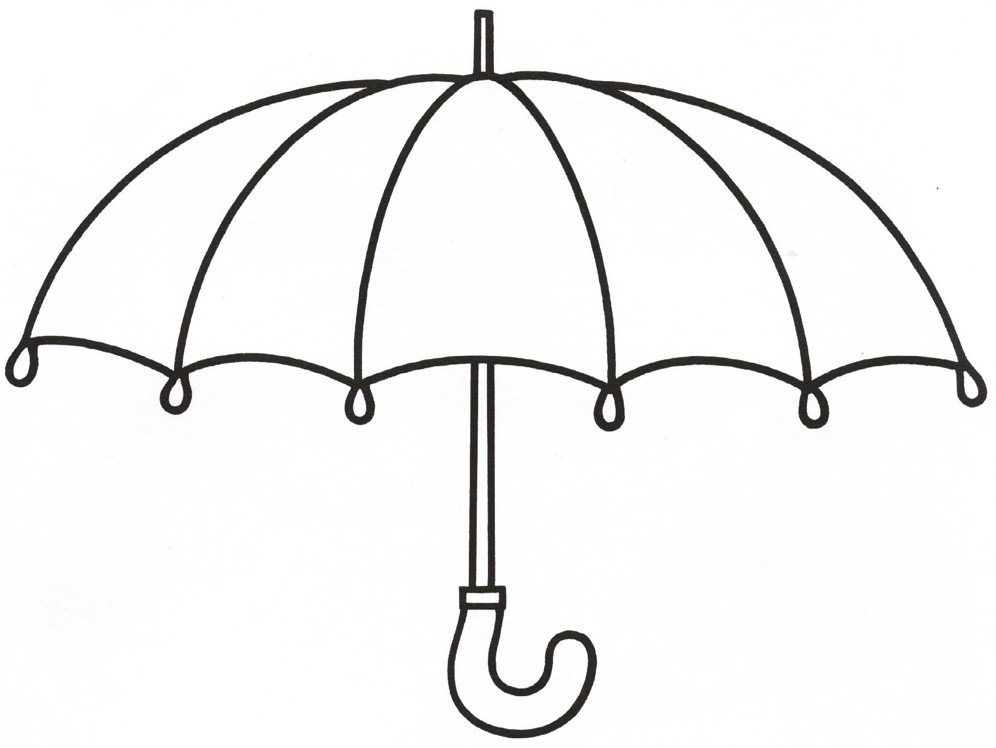 Зонт картинка для детей черно белая