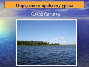 Определяем проблему урока Озеро Селигер