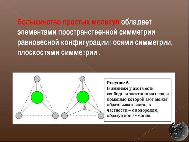 Большинство простых молекул обладает элементами пространственной симметрии р...