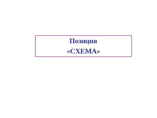 Позиция «СХЕМА»