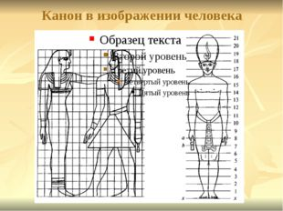 Канон в изображении человека